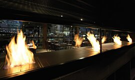 Hurricane's Grill & Bar Favourite Fireplace Ethanol Burner Idea