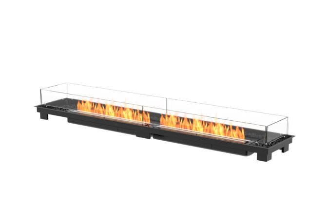 Linear 90 Fire Pit Kit - Ethanol - Black / Black by EcoSmart Fire