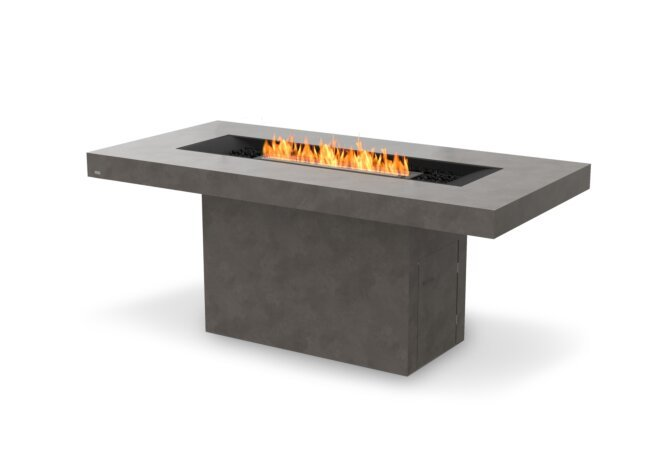 Gin 90 (Bar) Fire Table - Ethanol - Black / Natural by EcoSmart Fire