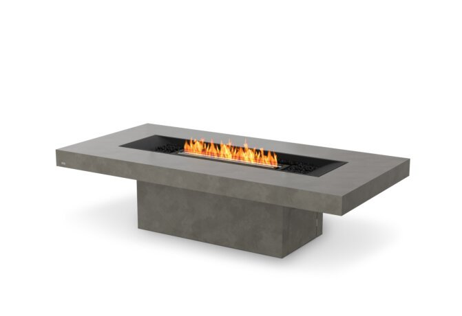 Gin 90 (Chat) Fire Table - Ethanol - Black / Natural by EcoSmart Fire