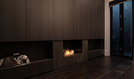 Private Residence Linear Fires Single Sided Idea