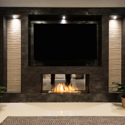 Double Sided Fireplace Inserts